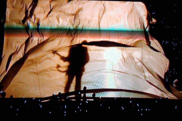 Prince at half time at the Super Bowl